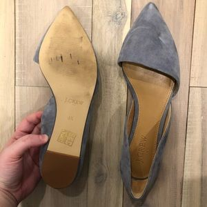 J. Crew Shoes - JCREW Blue Suede D'orsay Flats